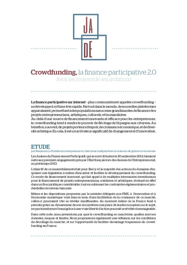 Jade club etude-crowdfunding