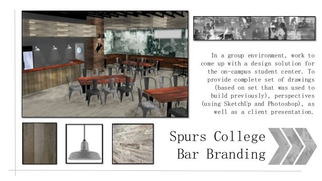 3 Spurs College Bar Branding In A Group