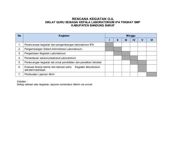 Jadwal Kegiatan Ojl Bandung Barat