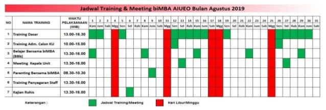Jadwal Training Dasar Agustus s/d Desember 2019 (new)