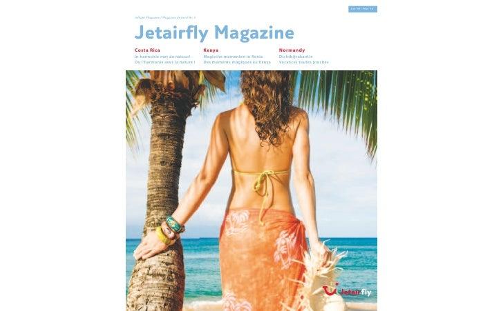 Oct '09 - Mar '10  Inflight Magazine / Magazine de bord Nr. 5     Jetairfly Magazine Costa Rica                           ...
