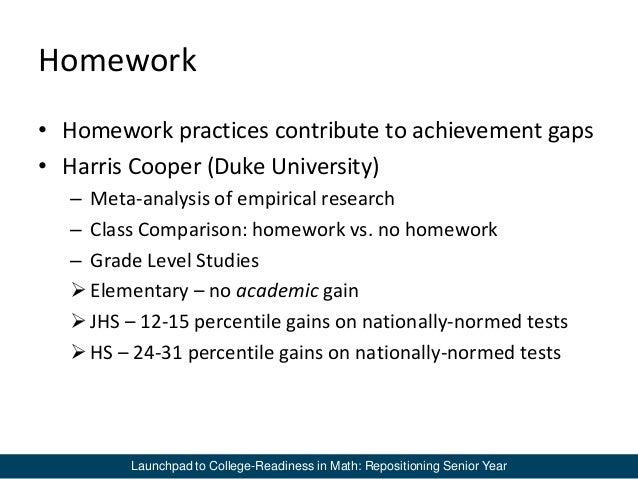 No homework studies