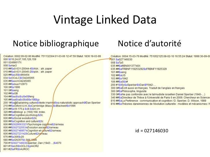 Vintage Linked Data<br />Notice bibliographiqueNotice d'autorité<br />id = 027146030<br />