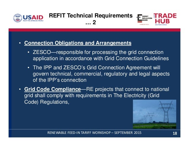 Refit rules guidelines license & Power Purchase Agreement