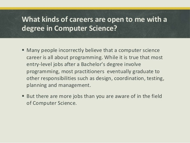 what can you do with a computer science degree