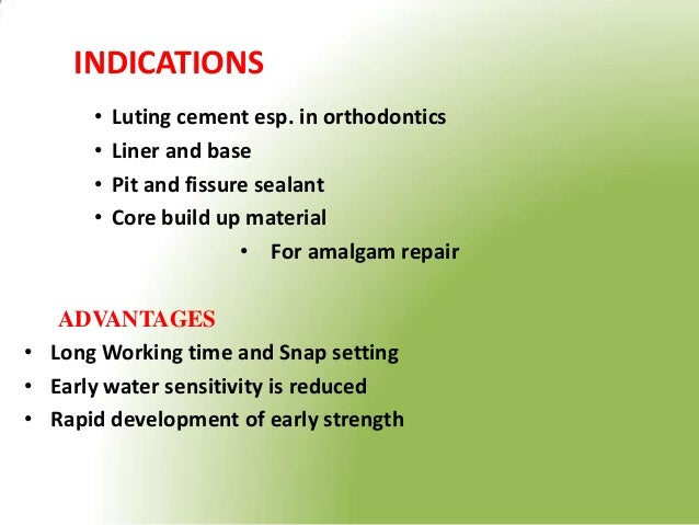 resin modified glass ionomer cements biology essay Glass-ionomer based hybrids incorporate another dental material, for example resin-modified glass ionomer cements (rmgic) and compomers (or modified composites.
