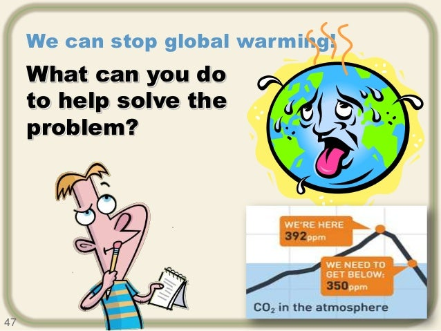 how to solve the problem of global warming