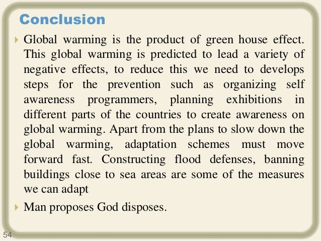Greenhouse effect and global warming essay
