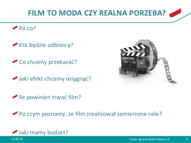 """Jagoda Podgórska-Teska """"Klatka po klatce - czyli jak zrealizować film wizerunkowy"""" Slide 3"""