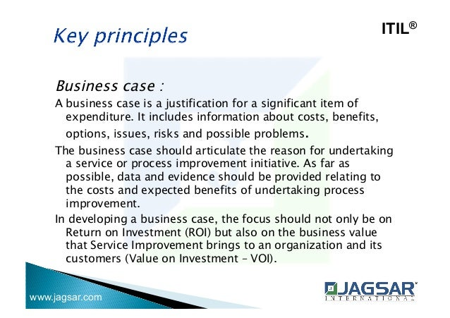 Itil foundation jagsar itil business case wajeb Gallery