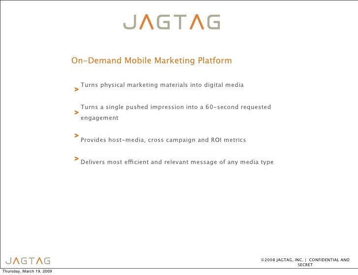 On-Demand Mobile Marketing Platform                                 Turns physical marketing materials into digital media ...