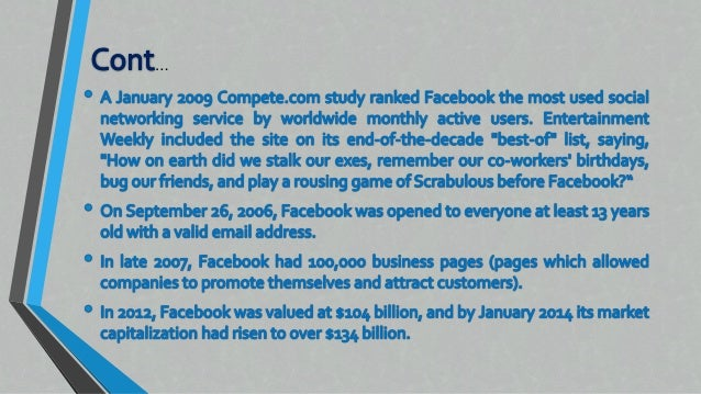 introduction facebook essay The writing center – valle verde profile essay a profile essay is a type of essay that centers a certain person, place, or thing one of the most.