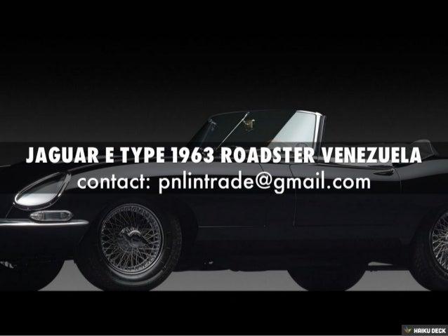 Jaguar E Type Series I 3.8L 1963 Roadster Venezuela For Sale