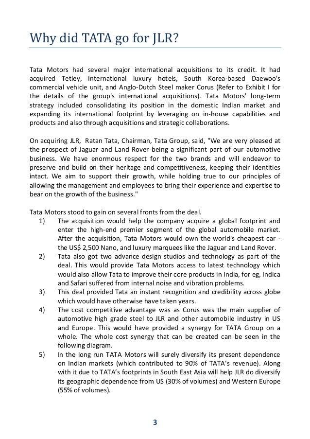 tata motors acquisition of daewoo essay International strategic issue of tata motors marketing essay nottingham business school ciism (busi 42632) assignment critical analysis of the international.