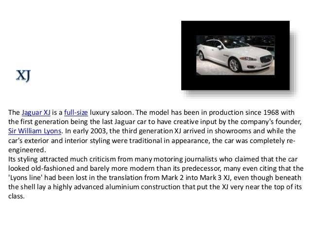 Jaguar Car Company Ppt