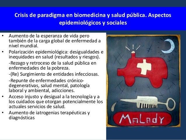 Crisis de paradigma biomédico/epidemiológico aspectos teóricos • • • • • • • • • •  Numerosos casos de enfermedad cuya con...