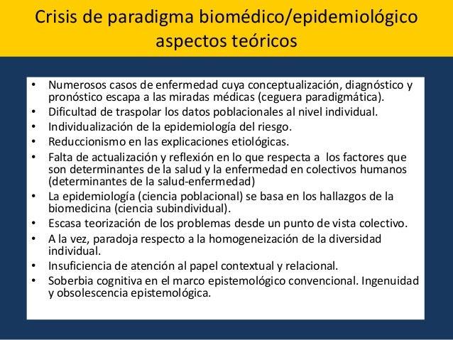 •Agotamiento de su método privilegiado de análisis (la investigación de factores de riesgo mediante procedimientos estadís...