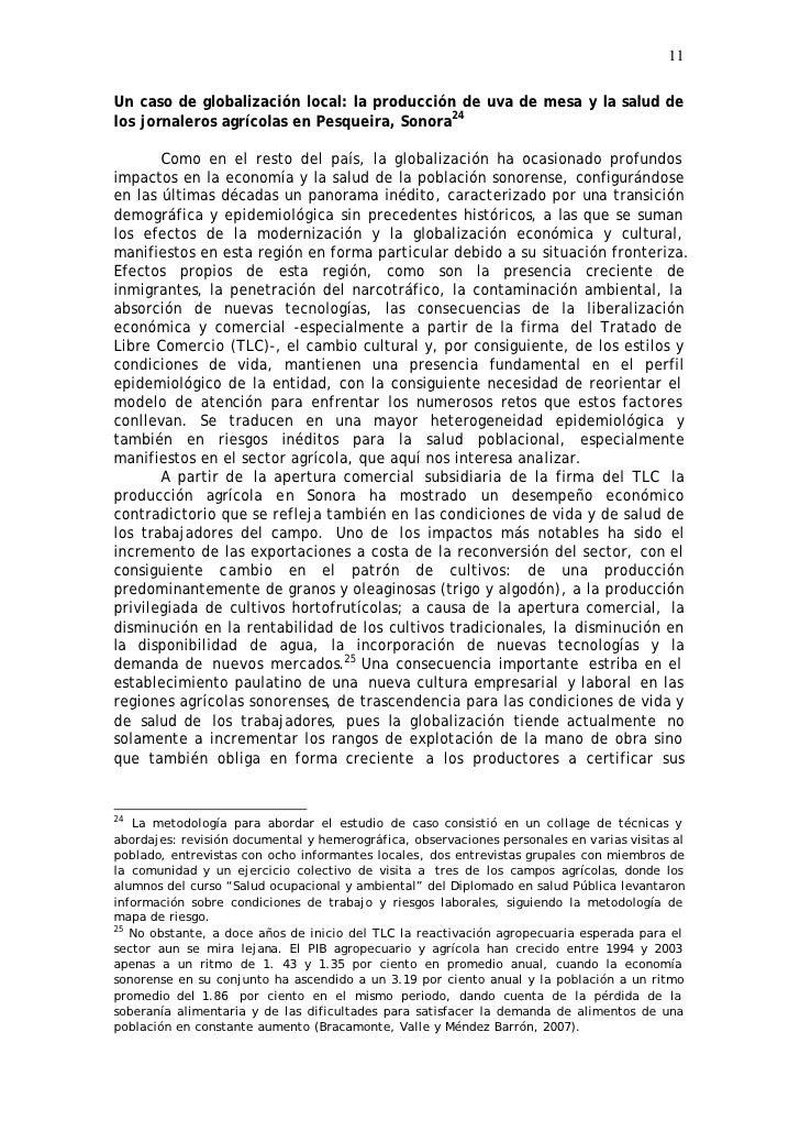 11  Un caso de globalización local: la producción de uva de mesa y la salud de los jornaleros agrícolas en Pesqueira, Sono...