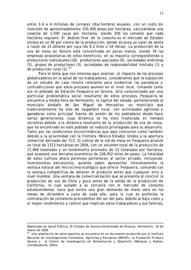 13  entre 3.4 a 4 millones de jornales (día/hombre) anuales, con un costo de inversión de aproximadamente 150,000 pesos po...