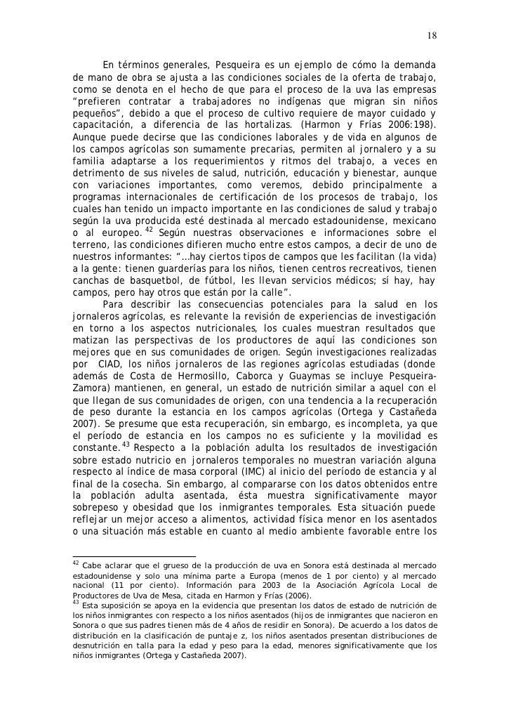 18         En términos generales, Pesqueira es un ejemplo de cómo la demanda de mano de obra se ajusta a las condiciones s...