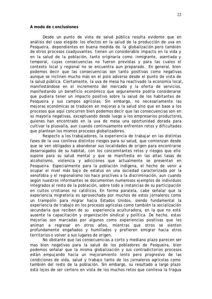 22  A modo de c onclusiones         Desde un punto de vista de salud pública resulta evidente que en análisis del caso ele...