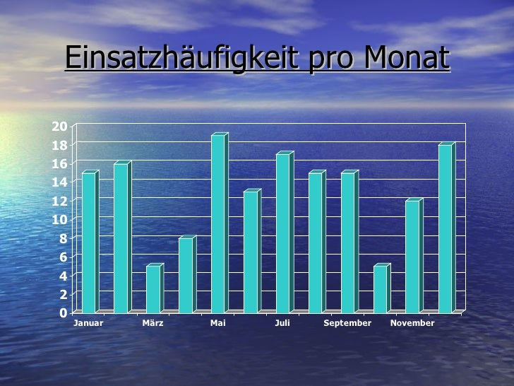 Einsatzhäufigkeit pro Monat