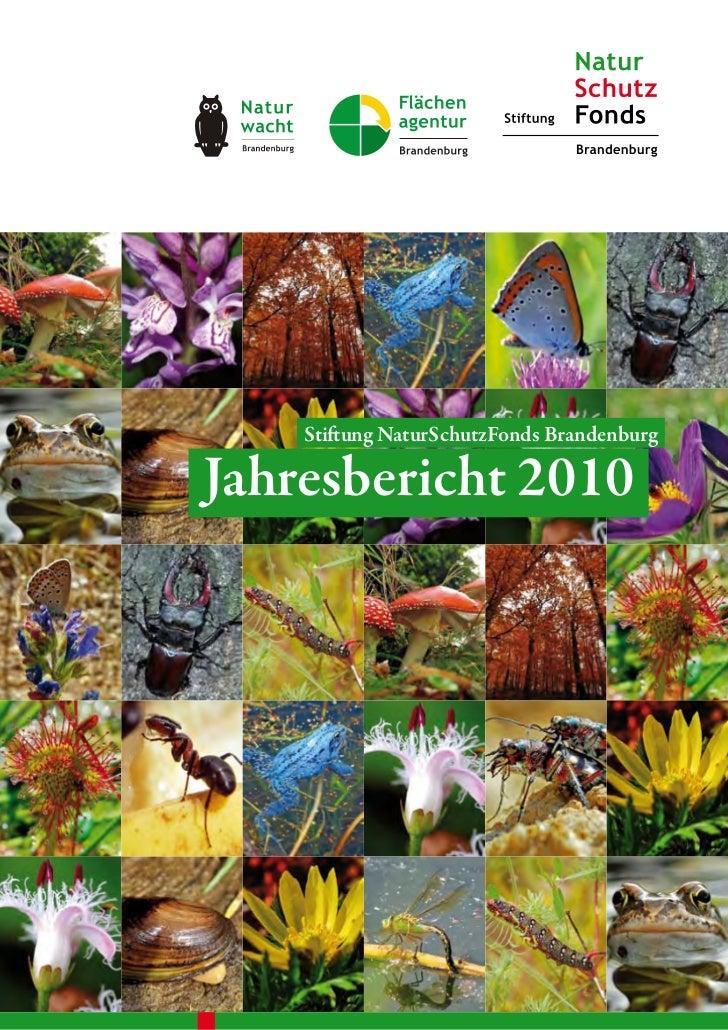 Stiftung NaturSchutzFonds BrandenburgJahresbericht 2010