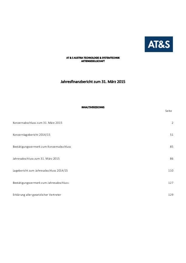 AT&SAUSTRIATECHNOLOGIE&SYSTEMTECHNIK AKTIENGESELLSCHAFT      Jahresfinanzberichtzum31.März201...