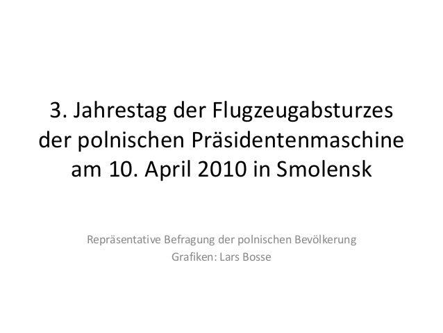 3. Jahrestag der Flugzeugabsturzesder polnischen Präsidentenmaschine    am 10. April 2010 in Smolensk    Repräsentative Be...