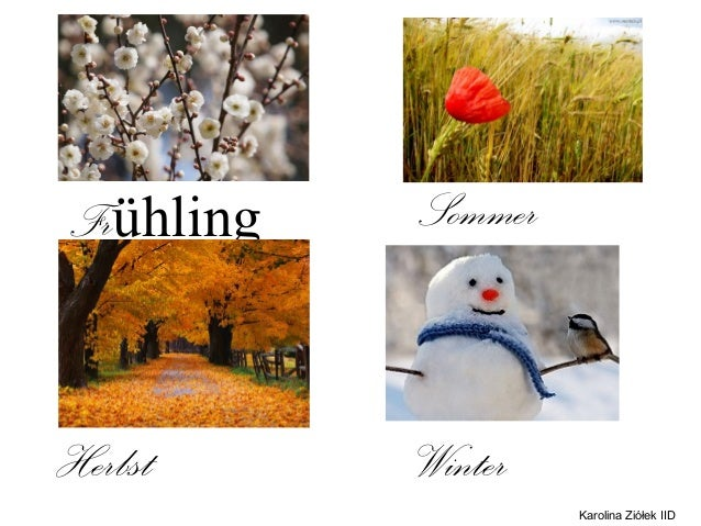 Frühling   SommerlingHerbst     Winter                    Karolina Ziółek IID