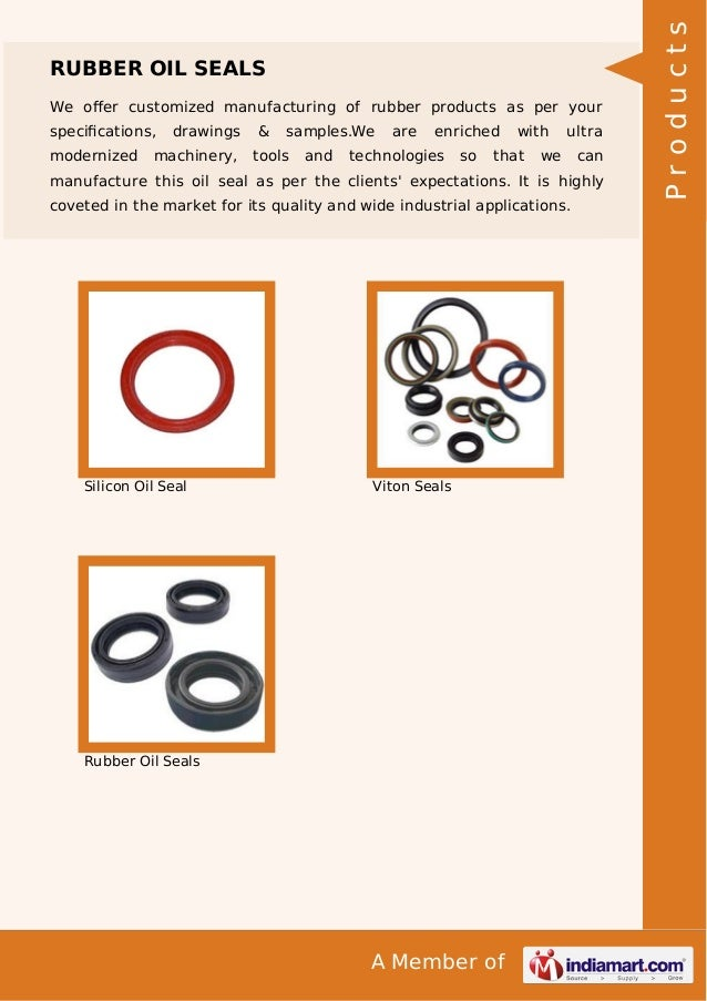 We offer customized manufacturing of rubber products as per your specifications, modernized  drawings  machinery,  &  sample...