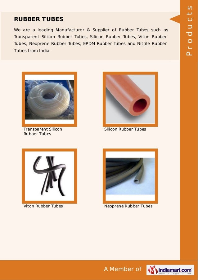 We are a leading Manufacturer & Supplier of Rubber Tubes such as Transparent Silicon Rubber Tubes, Silicon Rubber Tubes, V...