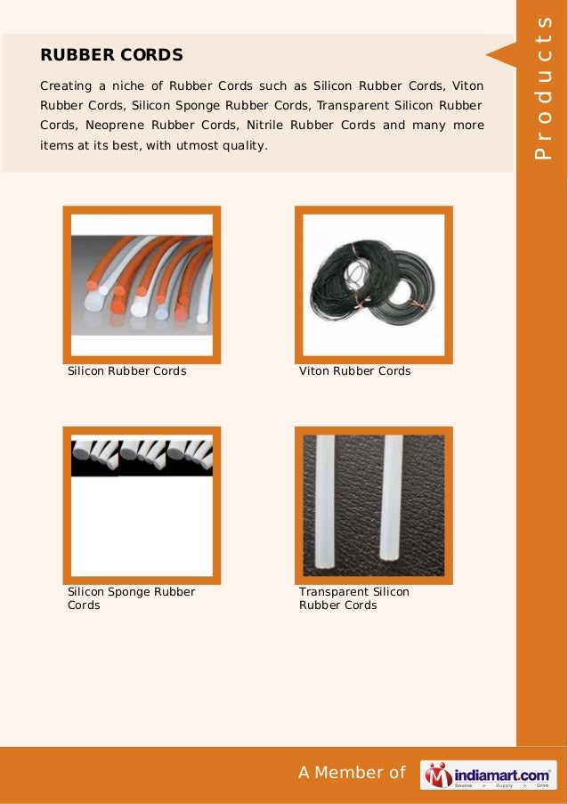 Creating a niche of Rubber Cords such as Silicon Rubber Cords, Viton Rubber Cords, Silicon Sponge Rubber Cords, Transparen...