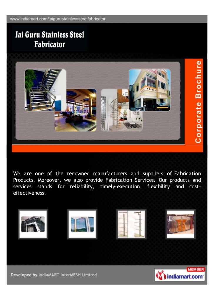 Jai Guru Stainless Steel Fabricator, Chennai, Fabricator