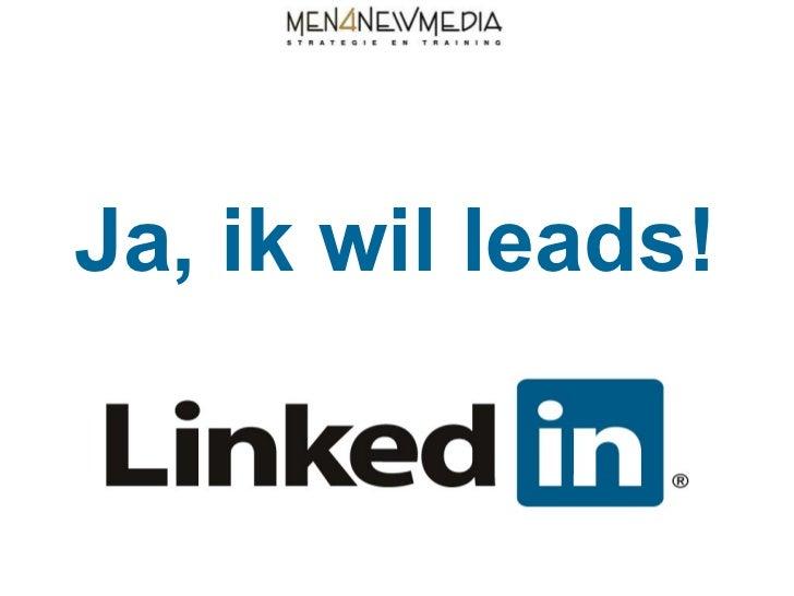 Ja, ik wil leads!