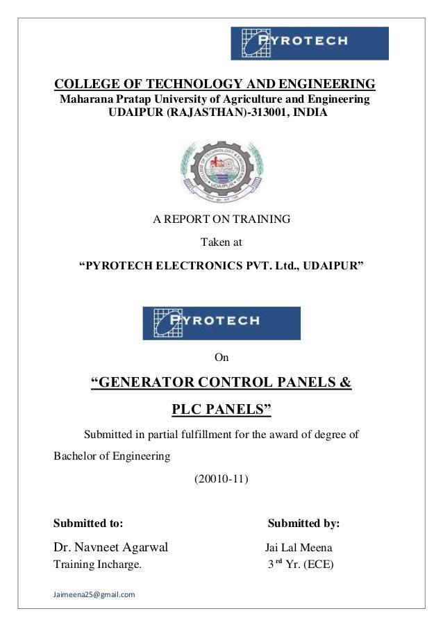 Jaimeena25@gmail.comCOLLEGE OF TECHNOLOGY AND ENGINEERINGMaharana Pratap University of Agriculture and EngineeringUDAIPUR ...