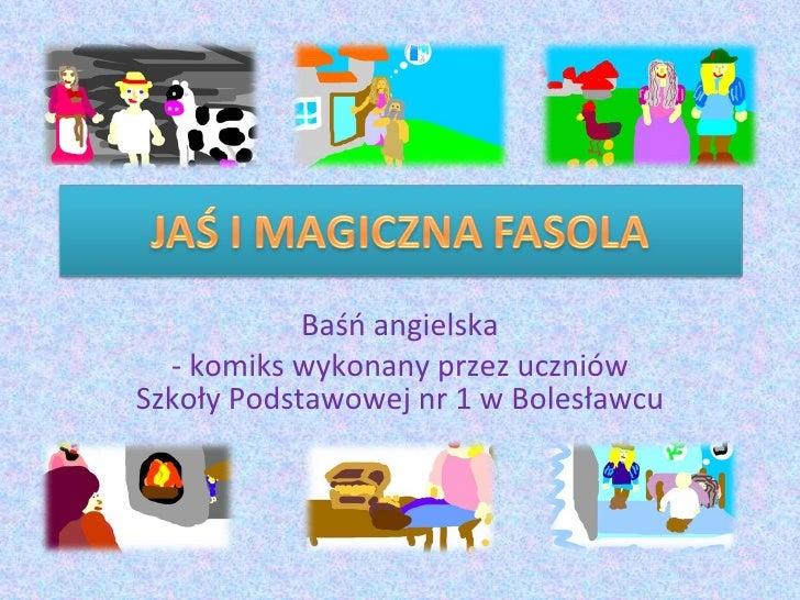Baśń angielska - komiks wykonany przez uczniów Szkoły Podstawowej nr 1 w Bolesławcu