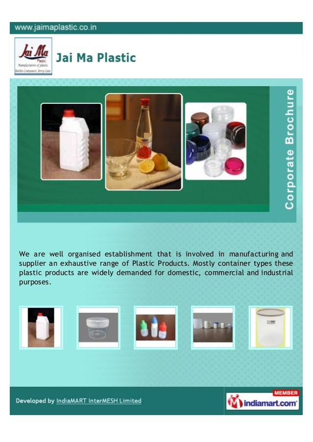 We are well organised establishment that is involved in manufacturing andsupplier an exhaustive range of Plastic Products....
