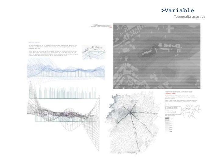 >Variable<br />Topografía acústica<br />