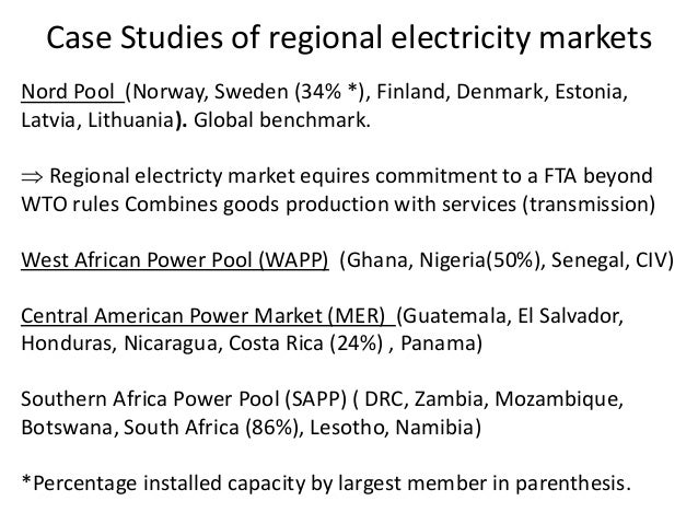 Regional economic cooperation an african perspective 19 case studies of regional electricity markets nord pool sciox Images