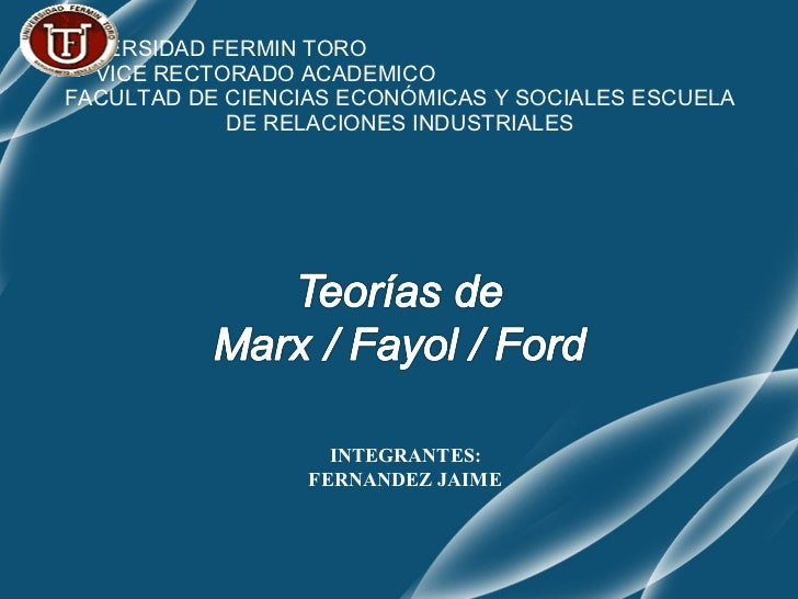 UNIVERSIDAD FERMIN TORO  VICE RECTORADO ACADEMICO  FACULTAD DE CIENCIAS ECONÓMICAS Y SOCIALES ESCUELA DE RELACIONES INDUST...
