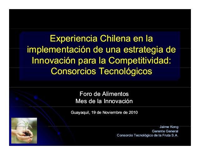 Experiencia Chilena en laExperiencia Chilena en la implementación de una estrategia deimplementación de una estrategia dei...