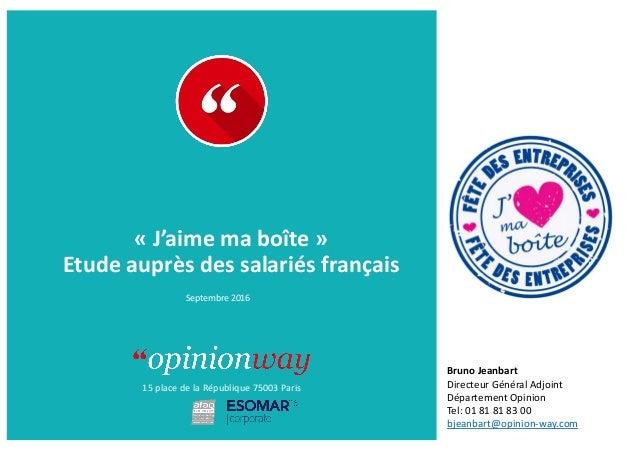 15  place  de  la  République  75003  Paris À      :   De  :   «  J'aime  ma  boîte  »  ...