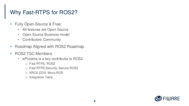 Why Fast-RTPS for ROS2?  Fully Open-Source & Free: • All features are Open Source • Open Source Business model • Contribu...