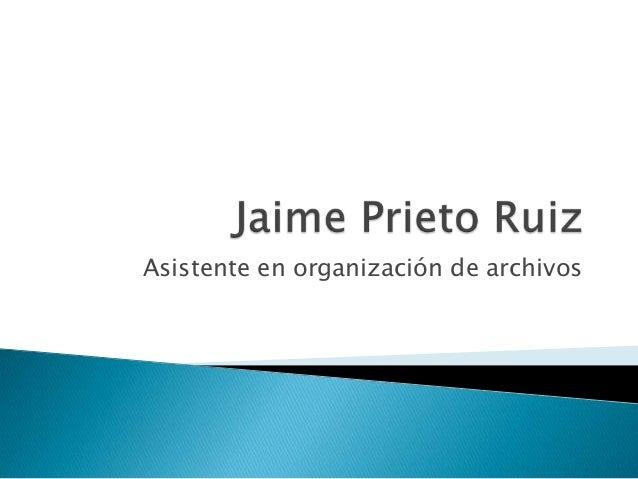 Asistente en organización de archivos