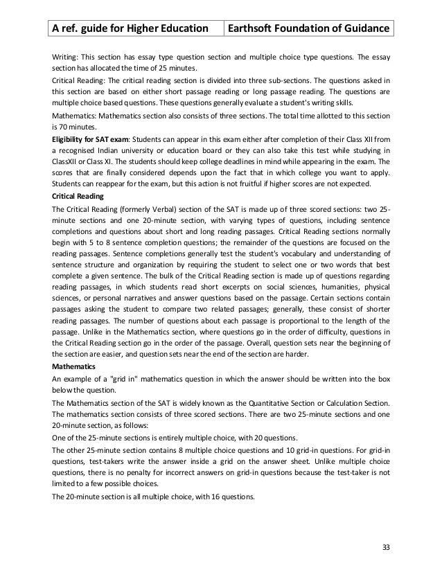 Short answer essay foundation of education