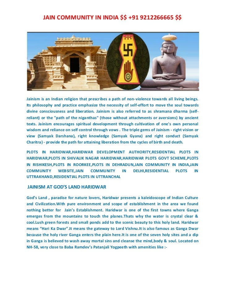 JAIN COMMUNITY IN INDIA $$ +91 9212266665 $$Jainism is an Indian religion that prescribes a path of non-violence towards a...