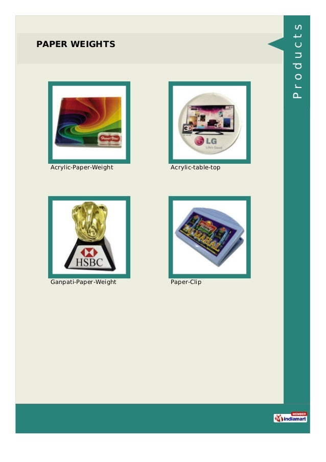 PAPER WEIGHTS Acrylic-Paper-Weight Acrylic-table-top Ganpati-Paper-Weight Paper-Clip Products
