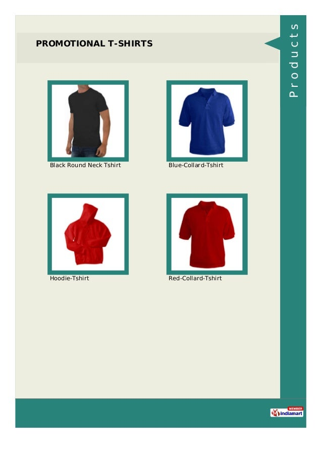 PROMOTIONAL T-SHIRTS Black Round Neck Tshirt Blue-Collard-Tshirt Hoodie-Tshirt Red-Collard-Tshirt Products