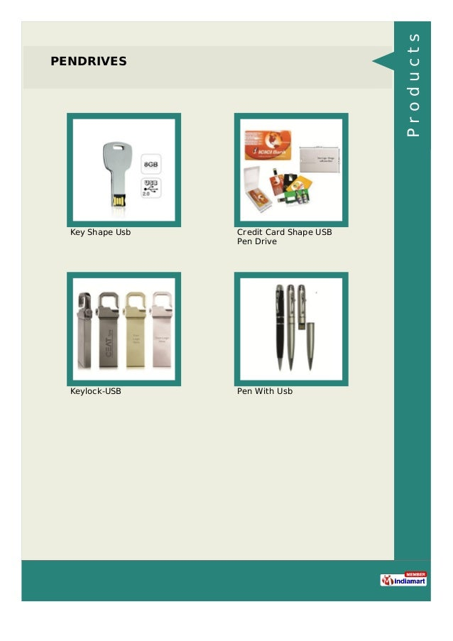 PENDRIVES Key Shape Usb Credit Card Shape USB Pen Drive Keylock-USB Pen With Usb Products